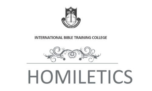 DTH016 Homiletics