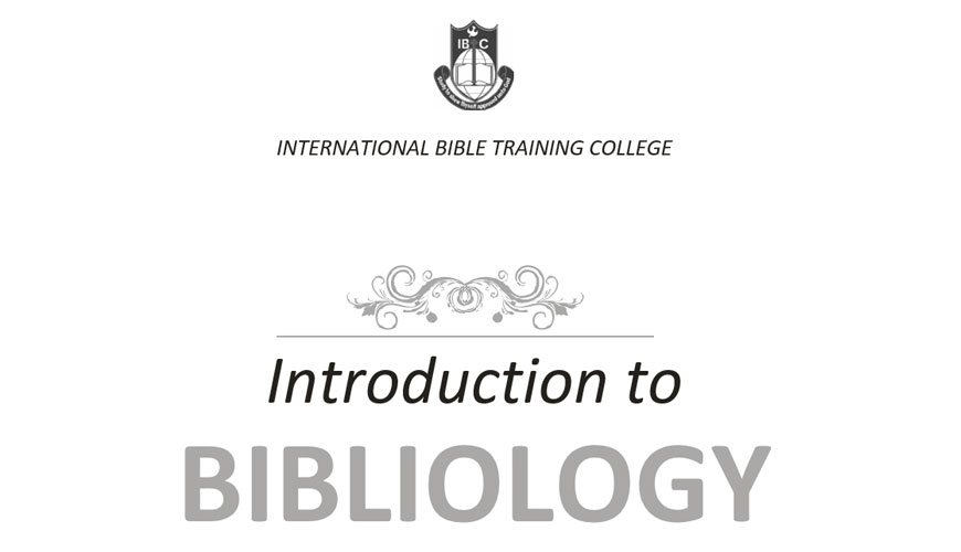 introduction-to-bibliology