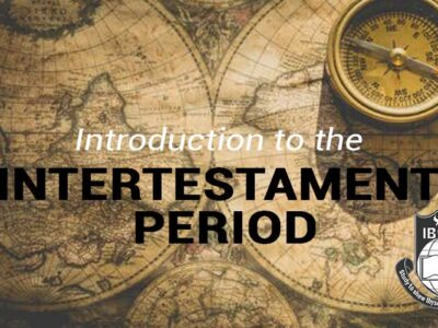 DTH005 Introduction to Inter–Testament Period