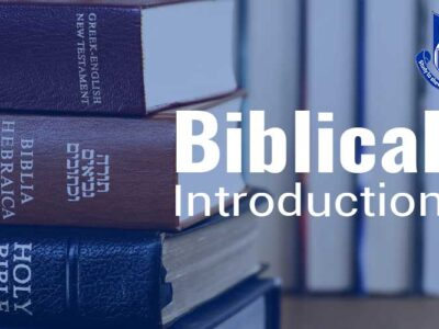 CTH025 Biblical Introduction